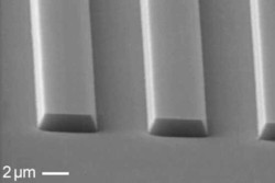 Etching of GaN using Cl2 / BCl3 / Ar gas mixture